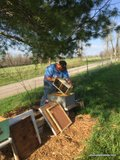 Installing a package of honey bees